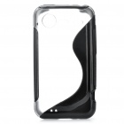 Protective Back Case for HTC Incredible S710 G11 (Black + Transparent White)