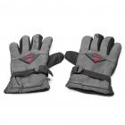 Winter Warm Keeping Dacron + Cotton Gloves - Silvery + Black (Size-L/Pair)
