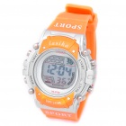 Multifunction Sport Lady Waterproof Wrist Watch w/ Data/Alarm/Week - Silvery + Orange (1 x CR2016)