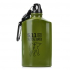 Outdoor Tactical Water Bottle with Carabiner/Compass - Army Green (500ml)