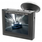 "300KP CMOS Wired Car Rearview Camera w/ 7-IR LED / 3.5"" LCD Monitor / Video Recording"
