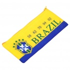 Creative Brazil Football Team Logo Pattern Dacron Purse/Wallet - Blue + Yellow