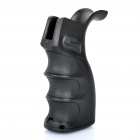 AR Ergonomic Combat Sniper Pistol Grip w/ Bottom Compartment - Black