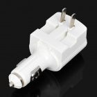 Universal Home Use/Car Cigarette Lighter Power Adapter Charger with 7 Adapters - White