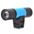 Sports Mini MP3 Player Music Speaker with 5-Mode White 1-LED Flashlight / FM / TF (Blue + Black)