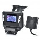 "2.0"" TFT 5.0MP Night Vision Car DVR Camcorder w/ GPS Antenna/TF Card/USB Slot - Black"
