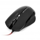 USB 4-Key 3200dpi Gaming Optical Mouse - Black