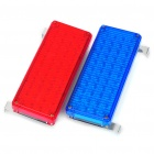 48-LED Blue / Red Light Warning Lamps for Car / Bicycle / Motorcycle (DC 12V / Pair)