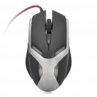 USB 6-Key 2000DPI Gaming Optical Mouse - Black