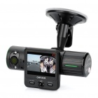 "Dual Lens CMOS Wide Angle Car DVR Camcorder w/ 2-IR LED / GPS Module / AV-Out / TF (2.0"" TFT)"