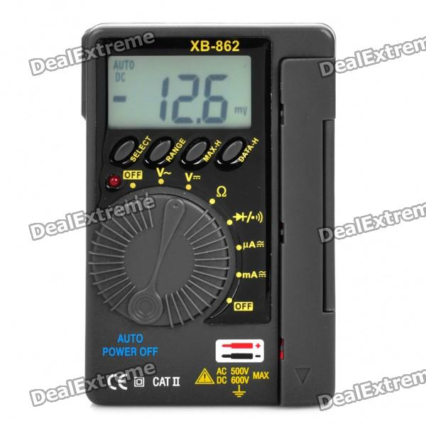 XB-862 1.6 LCD Portable Digital Multimeter (2 x AAA Battery) amput aptp446 digital 2 0 lcd pocket scale deep grey silver 2 x aaa