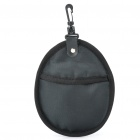 Dual Pockets Anti-Shock Lens Filter Storage Carrying Case Bag - Black