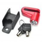 Anti-theft Bicycle / Motorcycle Steel Disc Lock - Red + Black