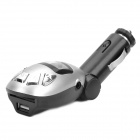 4-in-1 Full Range FM Transmitter MP3 Player w/ IR Remote - Black