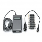 "1.8"" LCD 90W Car Cigarette Powered Power Supply Adapter w/ USB Port & 8 Charging Adapters for Laptop"