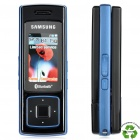 "Refurbished Samsung SGH-F200 MP3 GSM Slide Phone w/ 1.5"" LCD, Triple-band and Java - Blue + Black"