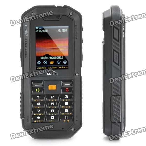 "Rugged Sonim XP2.10 Sprirt IP-67 WCDMA Barphone w/ 2.0"" LCD Screen, GSM Quadband, Java + FM - Black"