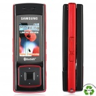 "Refurbished Samsung SGH-F200 MP3 GSM Slide Phone w/ 1.5"" LCD, Triple-band and Java - Red + Black"