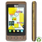 "Refurbished LG KP500 Cookie GSM Cell Phone w/ 3.0"" Touch Screen, Java and FM - Brown"