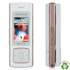 "Refurbished Samsung SGH-F200 MP3 GSM Slide Phone w/ 1.5"" LCD, Triple-band and Java - White + Pink"