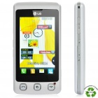 "Refurbished LG KP500 Cookie GSM Cell Phone w/ 3.0"" Touch Screen, Java and FM - White"