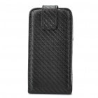 Protective Woven-Mat Pattern PU Leather Case Pouch for HTC G7 - Black