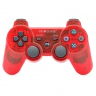 GOIGAME Rechargeable Bluetooth Wireless DoubleShock SIXAXIS Controller for PS3 - Transparent Red