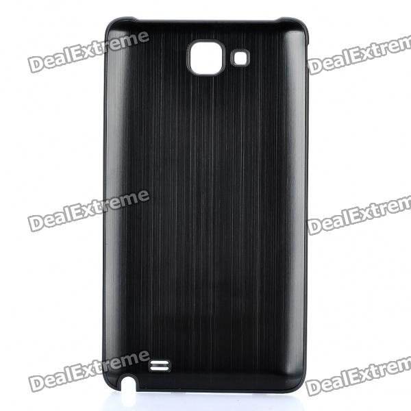 Replacement Aluminum Alloy Battery Cover for Samsung i9220 Galaxy Note - Black replacement 1200mah en el19 battery charger for nikon coolpix s2500 s4100 s3100 black white