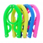 Plastic Foldable Coat Hanger - Random Color (4-Piece Set)
