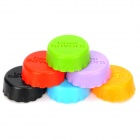 Silicone Beer Savers Bottle Sealers Covers (6-Piece / Random Color)