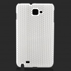 Mesh Protective ABS Case for Samsung Galaxy Note i9220 - White