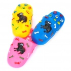Cute Soft Rubber Slipper Style Pet Toy with Whistle - Random Color