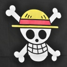 One Piece Luffy Skull Jolly Roger Flag - Black + White + Yellow