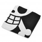 One Piece Luffy Skull Jolly Roger Flag (Black + White + Yellow)