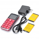 G1000 Senior GSM Cell Phones w/ 1.8&quot; LCD Screen, Dual-band, SOS Button, Dual SIM, FM and Torch - Red