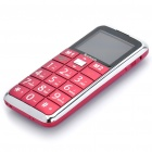 "G1000 Senior GSM Cell Phones w/ 1.8"" LCD Screen, Dual-band, SOS Button, Dual SIM, FM and Torch - Red"