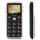 "G1000 Senior GSM Cell Phones w/ 1.8"" LCD Screen, Dual-band, SOS, Dual SIM, FM and Torch - Black"