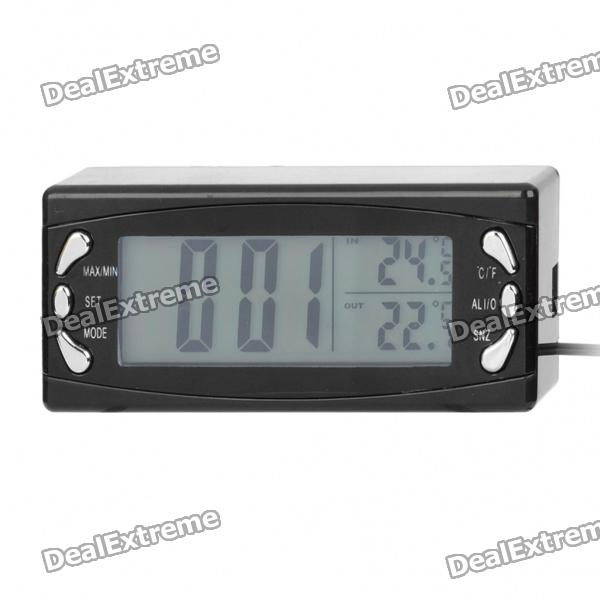 "2.6"" Car / Home Indoor Outdoor Thermometer w/ Alarm Clock (2 x AG13 / DC 12~24V)"