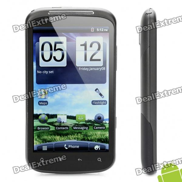 "G14 Android 2.3 WCDMA TV Smartphone w/ 4.3"" Capacitive, Dual SIM, Wi-Fi and GPS - Black"