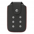 Protective PU Leather Case Pouch for Nokia N95 (Black + Red)