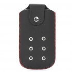 Protective PU Leather Case Pouch for Nokia 5800 (Black + Red)