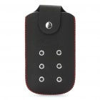 Protective PU Leather Case Pouch for Nokia N73 (Black + Red)