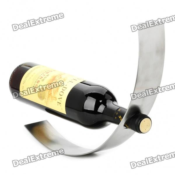 Crescent Shape Stainless Steel Wine Bottle Holder Rack
