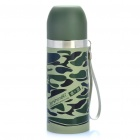 Bullet Shaped Stainless Steel Travel Vacuum Bottle Cup - Camouflage (350ml)