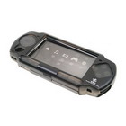 3-in-1 Aluminum Hard Case for PSP 2000/Slim (with Screen Protector + Silicone Case + Leather Strap)