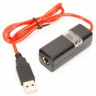 USB Karaoke Microphone Cable w/ 6.35mm Jack - Black
