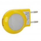 USB Power Adapter w/ 2-LED - Yellow (AC 100~240V / EU Plug)
