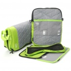 Multi-Purpose Protective Bag + One Shoulder Bag + Mouse Pad + CD Holder Set for Laptop - Green