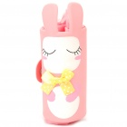Cute Portable Rabbit Style Shopping Bag with Clip - Pink