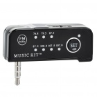 Mini Rechargeable FM Transmitter w/ 3.5mm Plug for iPhone 4 - Black